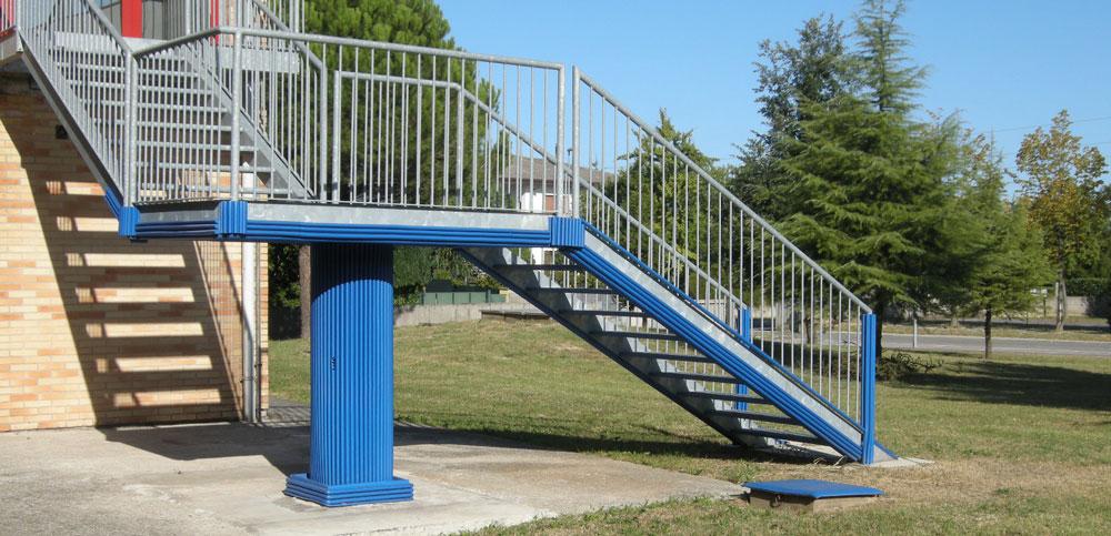fire escape staircase padding