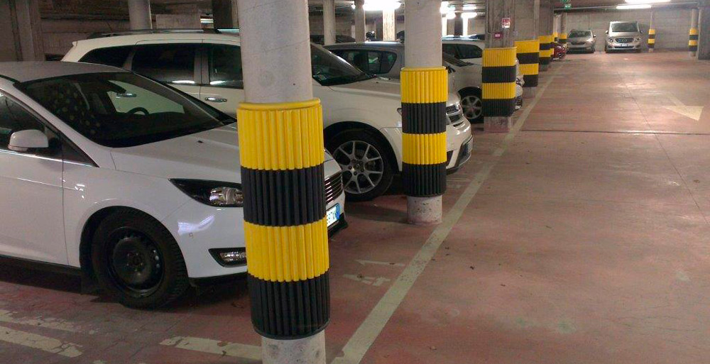 column padding, garage column paddings, garage columns protections